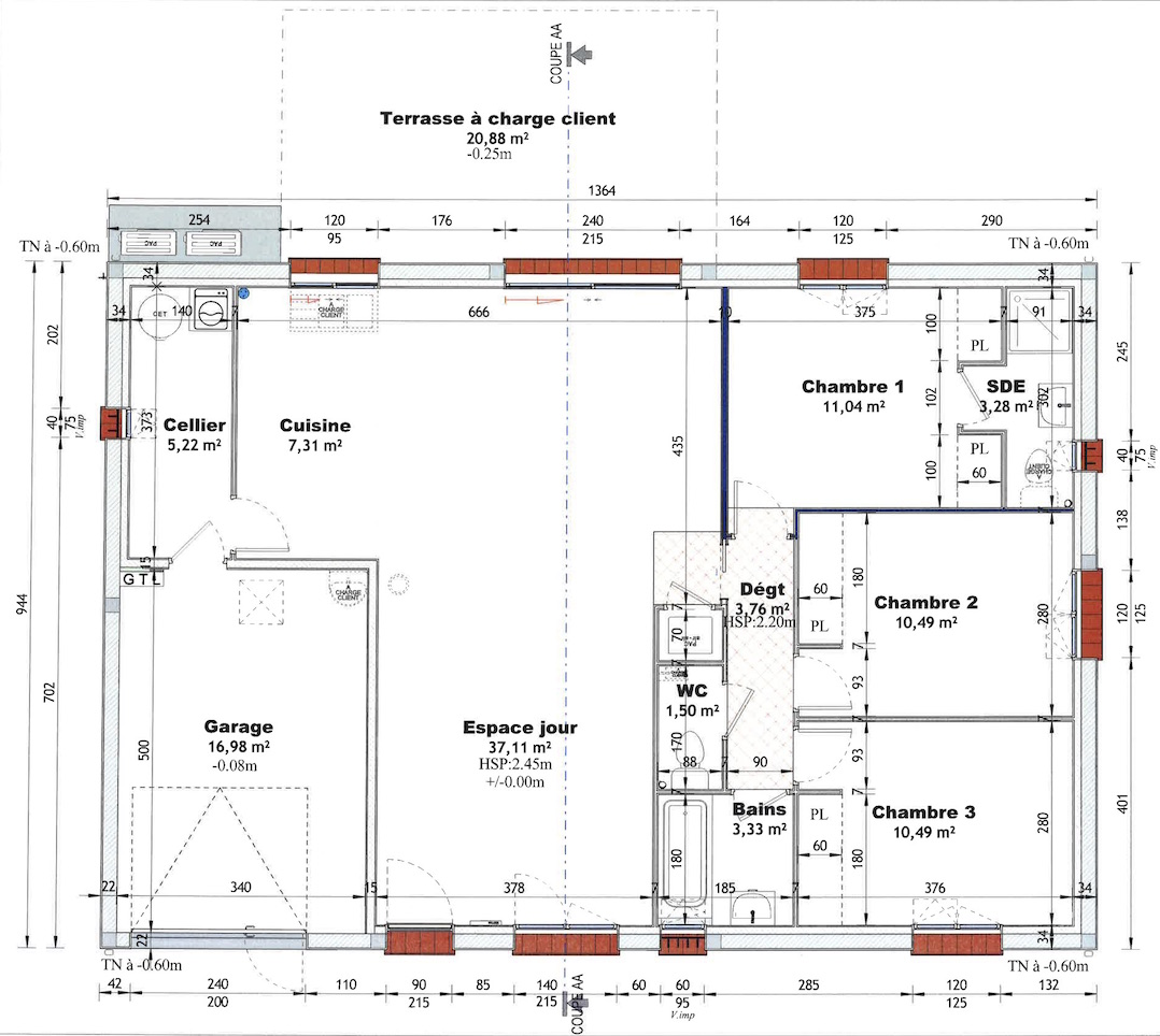 Plan Porte À Galandage plans de la maison – la maison de caro et yan
